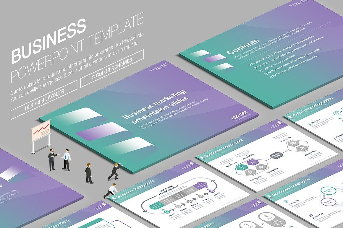 Business powerpoint template vol16 business powerpoint templates business powerpoint template vol16 by lunik studio on creativemarket toneelgroepblik Gallery