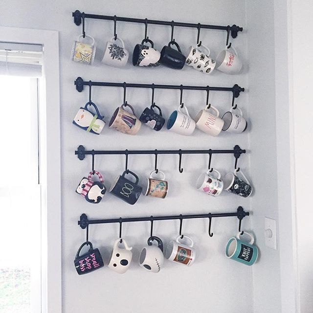 Pin By Hannah Brown On House Mug Storage Mug Rack Decor