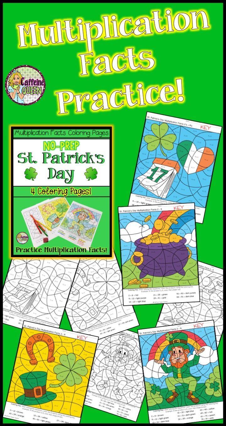 St. Patrick\'s Day Multiplication   Teacher\'s Helper   Pinterest ...