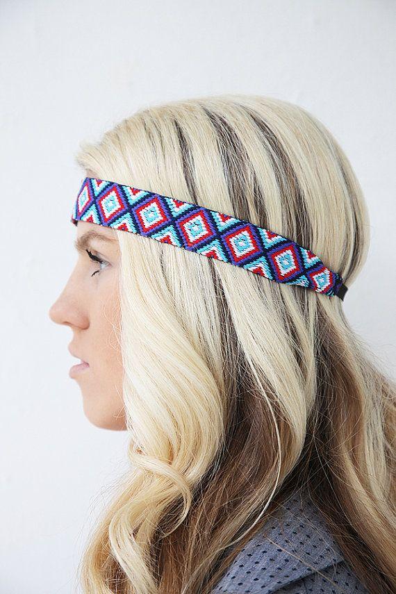 5e0e4e0c74959 Friendship Bracelet Inspired Bohemian Tribal Headband. | Crafty ...