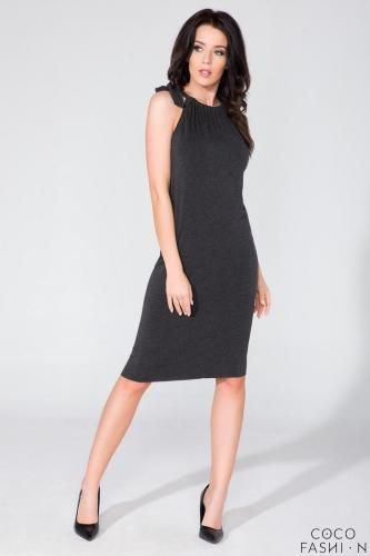 #Black fitted summer wrinkled neckline dress  ad Euro 29.49 in #Cocofashion #Clothing dresses
