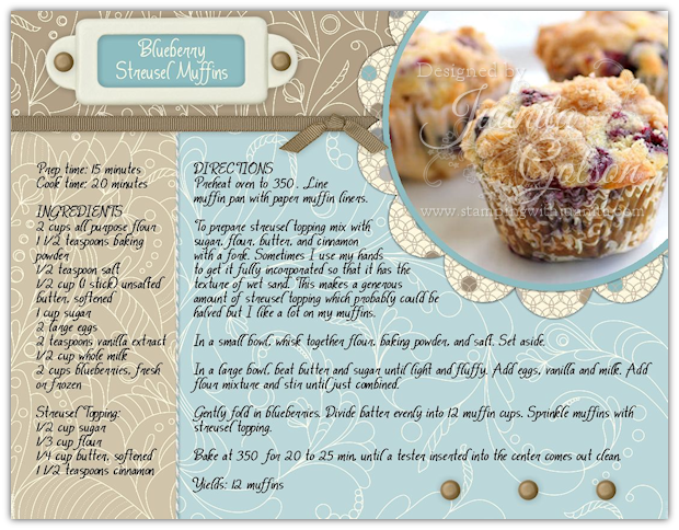 Re-using a Digital Cookbook Layout | couronnes | Pinterest