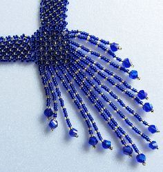 Necklace Resplendent ultramarine  Long Necklace Handmade
