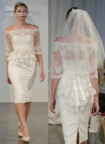 Courthouse Peplum Wedding Dresses