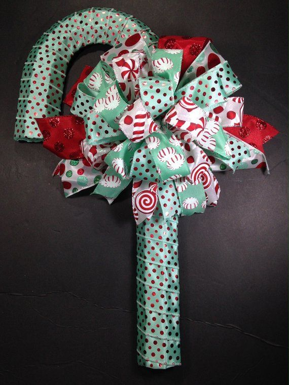 Items similar to Holiday Candy Cane Wreath,Candy Cane Door Hanger,Xmas Decor,Christmas Door Hanger,Christmas Dorm Decor,Holiday Decor,Christmas Candy Decor on Etsy