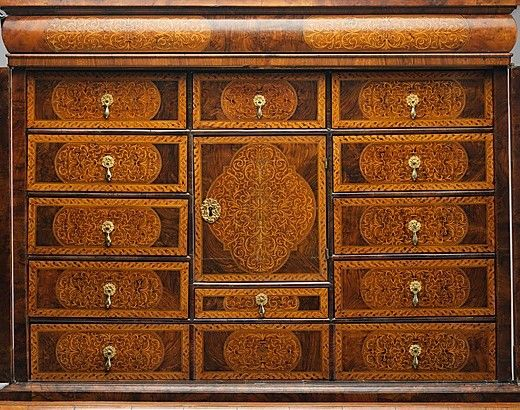 Antique furniture - Interior Close Up. Date: Ca. 1700 British Maker Unknown ? Pine
