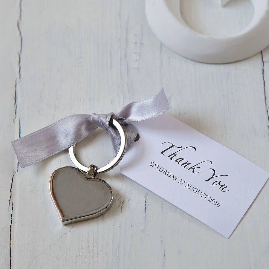 Heart Keyring And Personalised Tag Favours