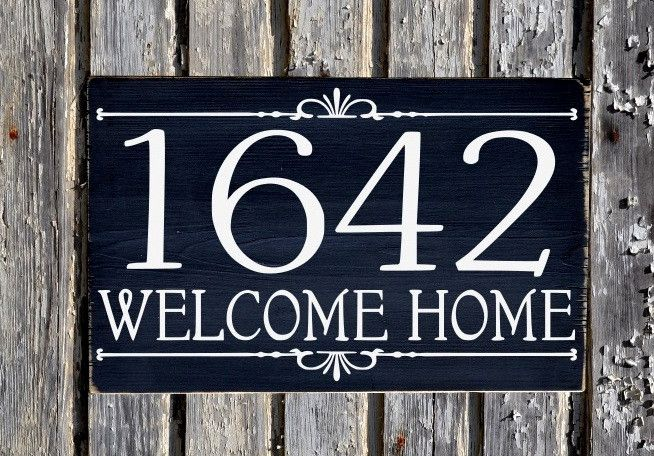 Address House Numbers Sign Outdoor Plaques Personalized Wooden Number Signs Outdoors Exterior