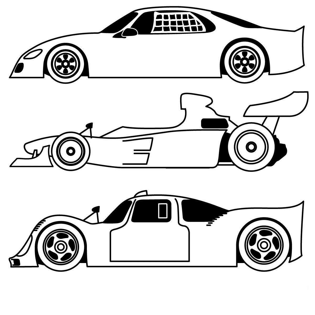 Race Car Coloring Pages Sports coloring pages, Cars