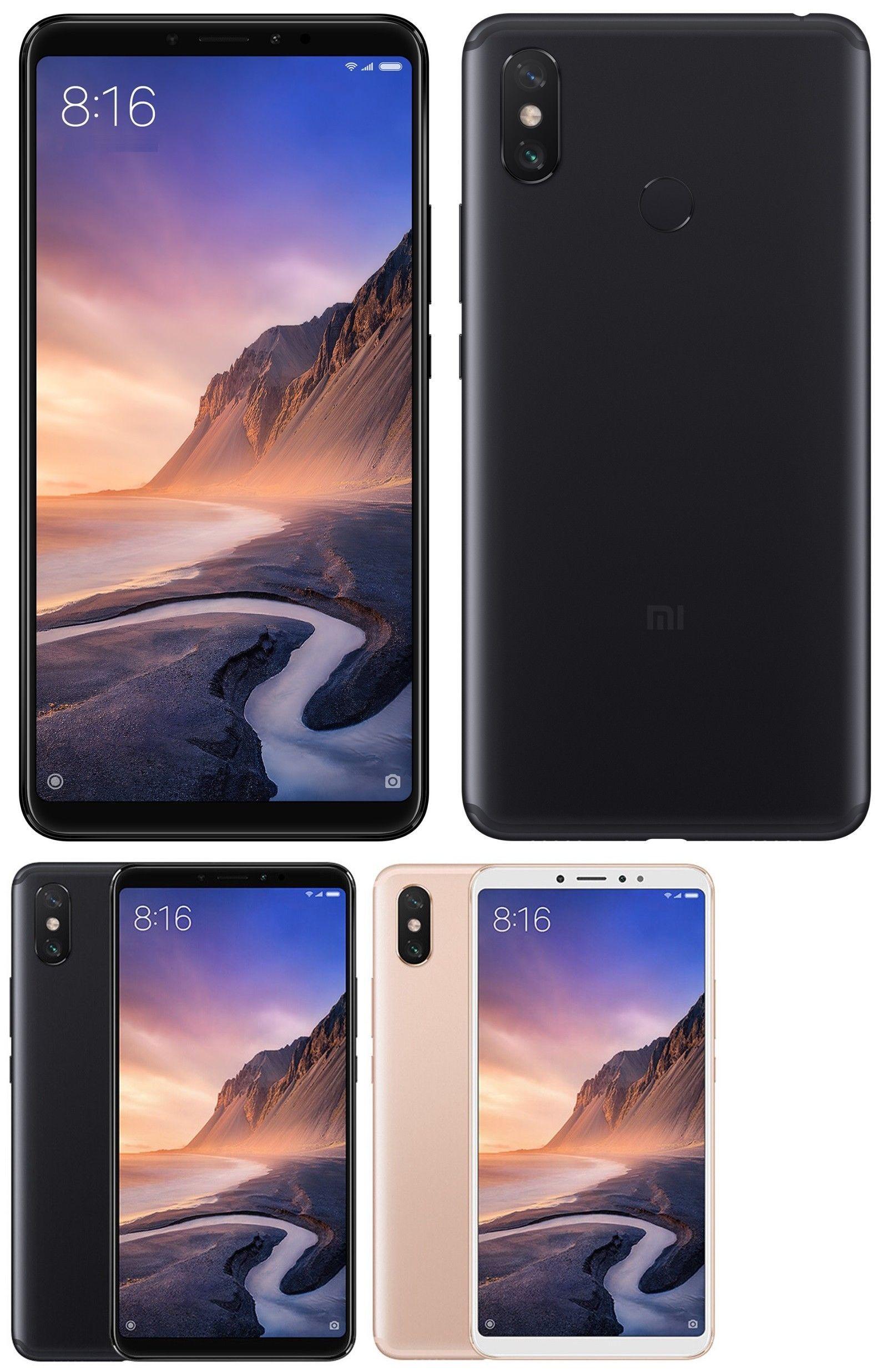 Xiaomi Mi Max 3 64gb Factory Unlocked 6 9 4gb Ram Black Gold Blue Global Ebay Xiaomi Best Cell Phone Prepaid Phones