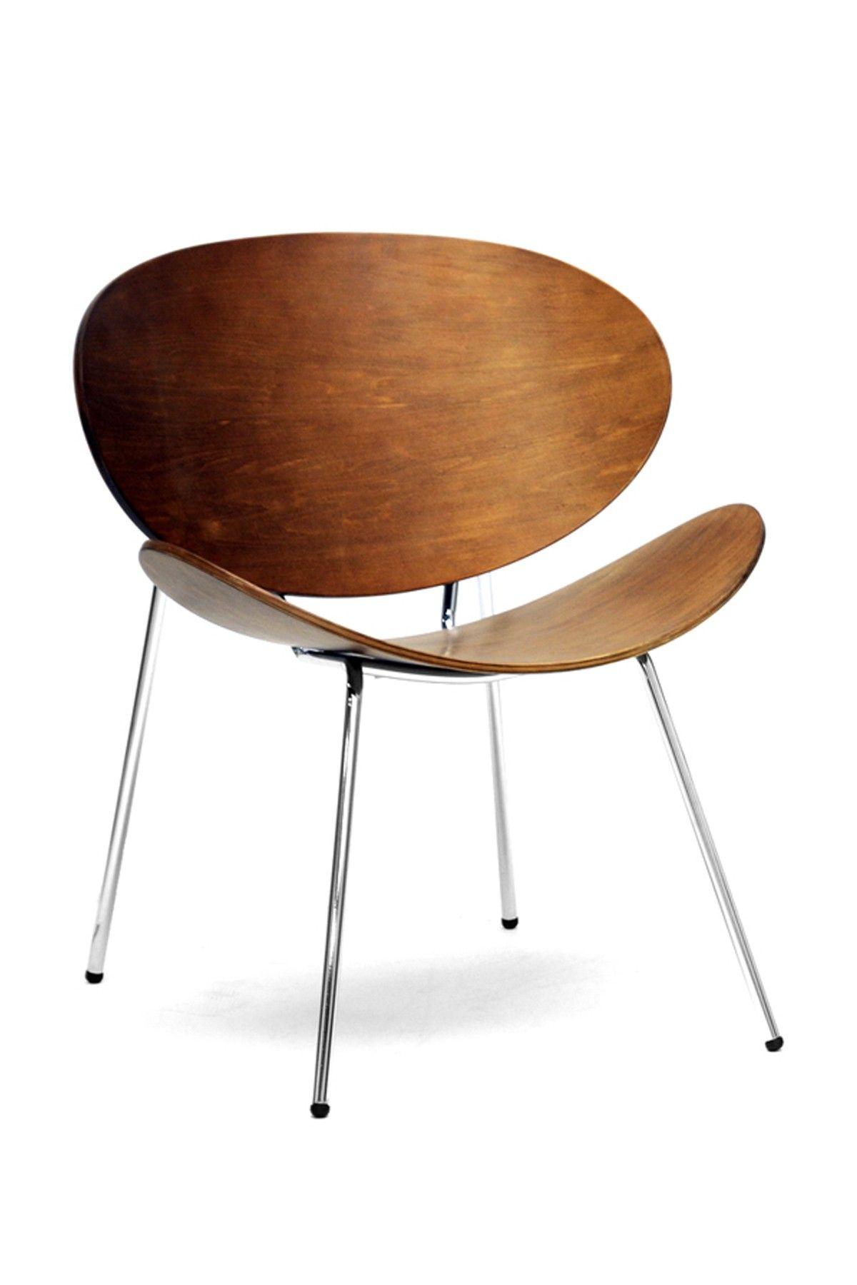 Reaves Walnut Mid Century Modern Accent Chairs   Set Of 2 On HauteLook