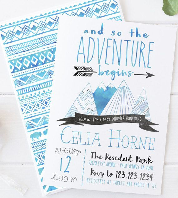 click to shop celebrate the baby boy on the way with this, Baby shower invitations
