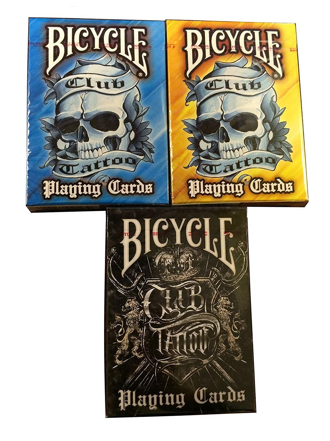 BICYCLE CLUB TATTOO PLAYING CARDS 3 DECK SET You can