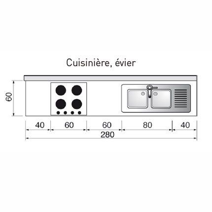PLan de cuisine linéaire - en I cocina Pinterest - Plan Maison En Longueur