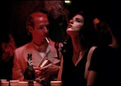 RUSSIA. Moscow. 1993. Moscow's Sad (Garden) Hermitage's nightclub: couple amusing themselves.