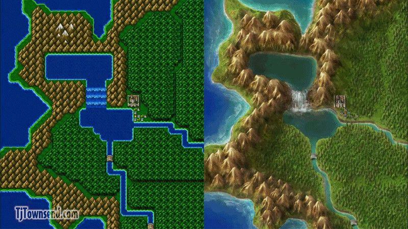 Artist Completely Redraws Final Fantasy IV\'s World Map   Game Art ...