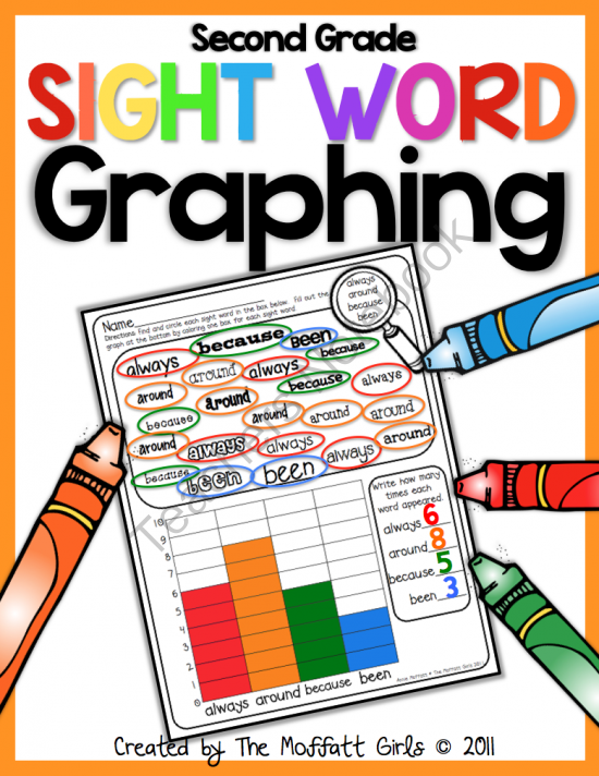 sight word graphing i think i would create one without the word