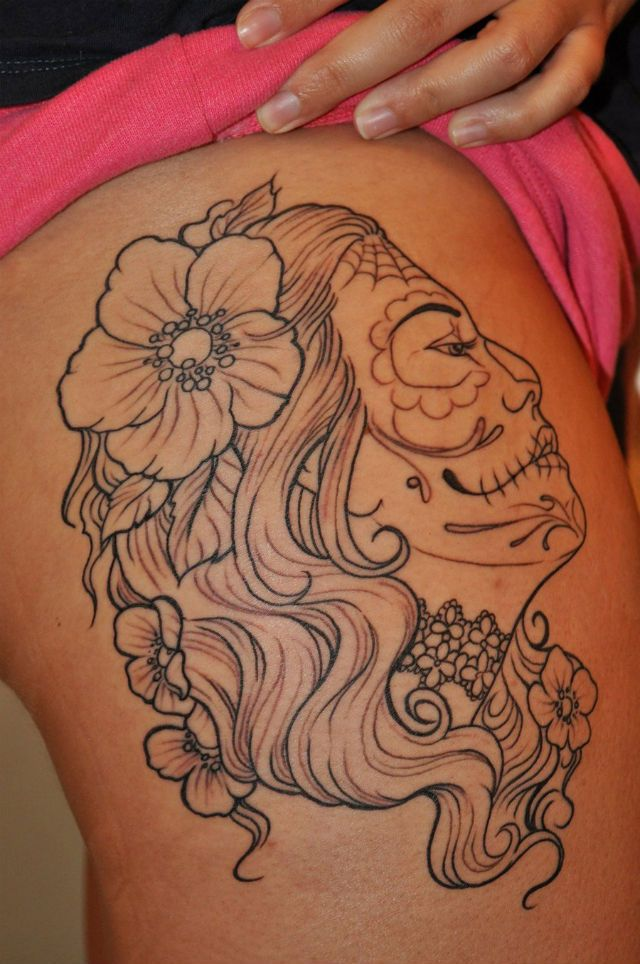 Tattoo Ideas Upper Thigh: Japanese Thigh Tattoos For Women
