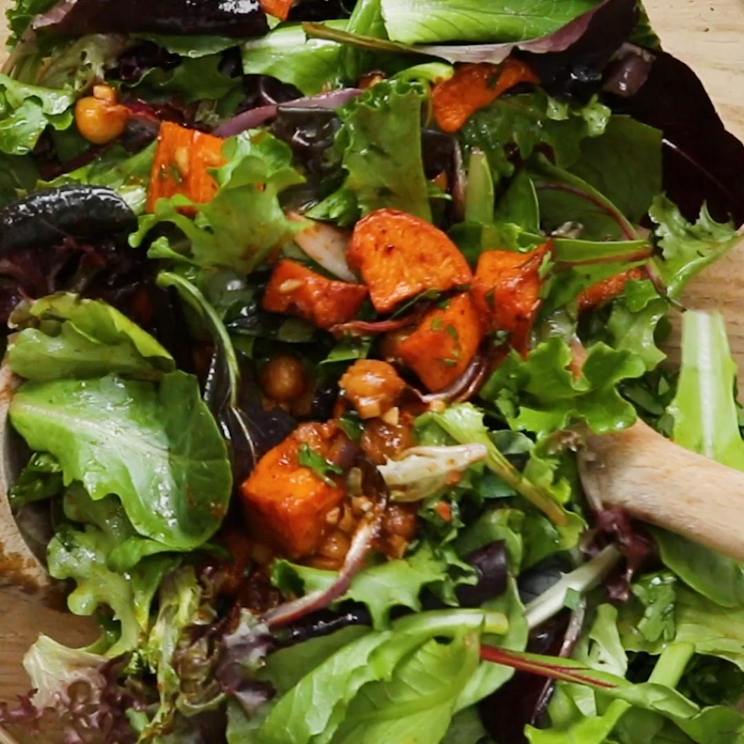 Photo of Sweet potato and chickpea salad