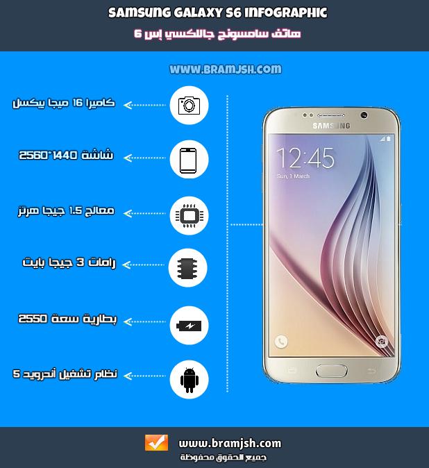 بالإنفوجرافيك سعر و مواصفات جوال جالاكسي إس 6 برامج صح Samsung Galaxy Samsung Galaxy S6 Galaxy