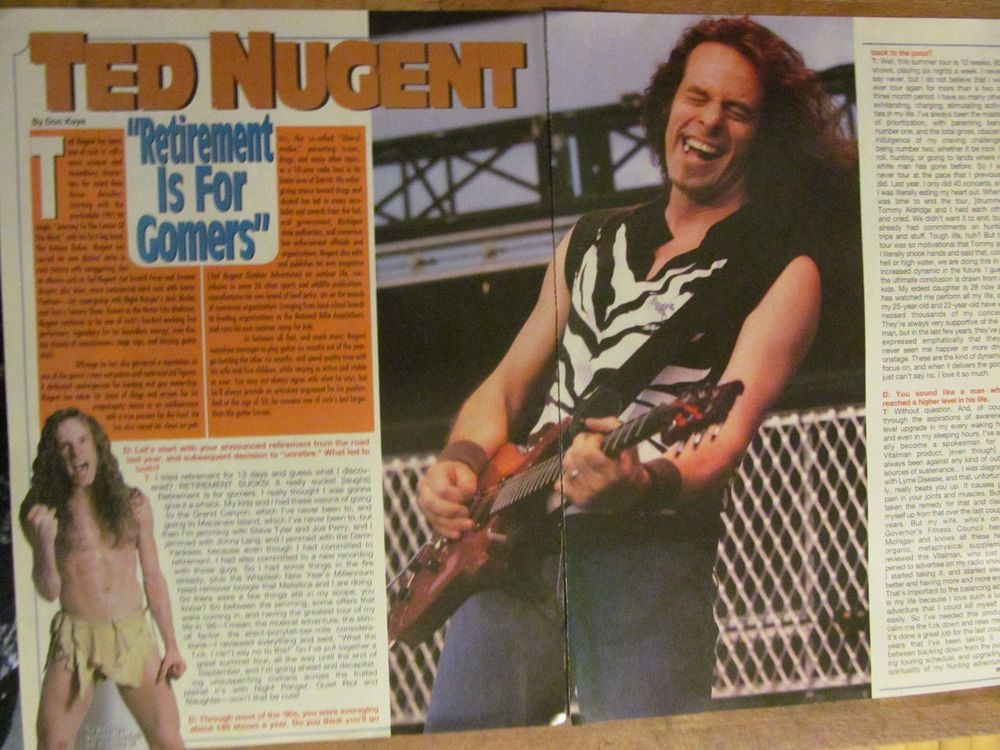 Ted Nugent, Two Page Vintage Clipping