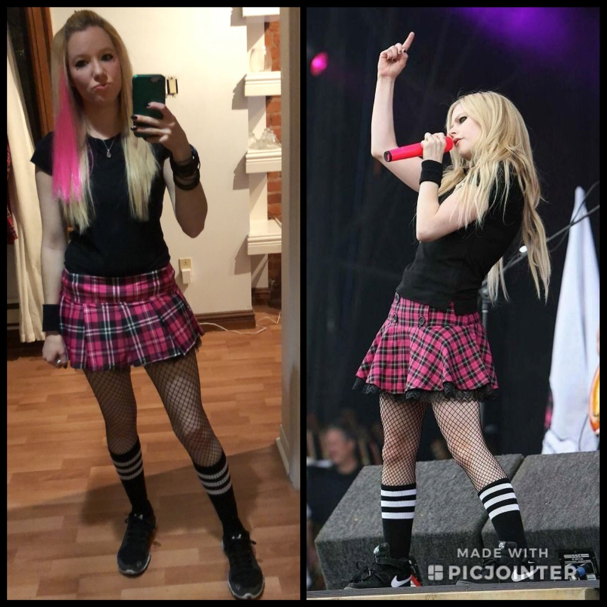6a5f815fa9e8 Avril Lavigne halloween costume. Killed it. Twinning.