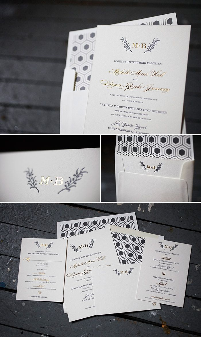 Editor\'s Pick: Top Wedding Invitation Designs | Foil stamped wedding ...