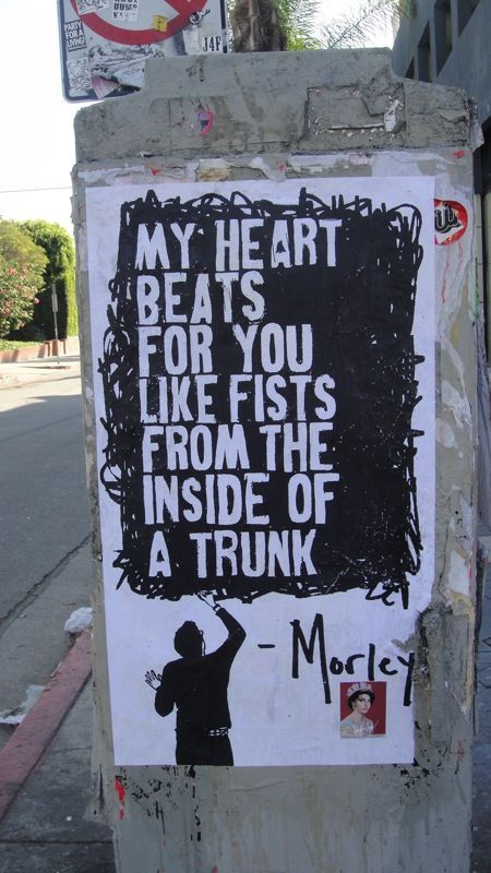 Morley street art on Melrose LA 2011 Graffiti wall art