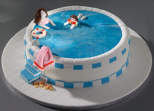 Attractive Learning To Swim Cake, Via Flickr.