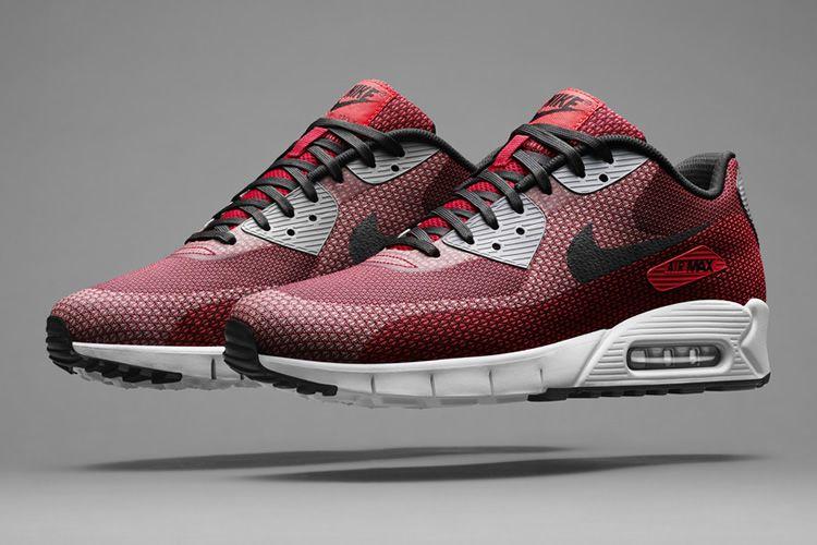 Nike Air Max 90 Jacquard Men Shoes Red Jacquard