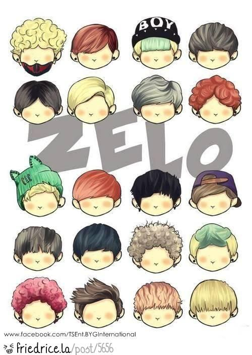 Every Hair Style He Ever Had Jello Anime Boy Hair Easy Hair Drawings Chibi