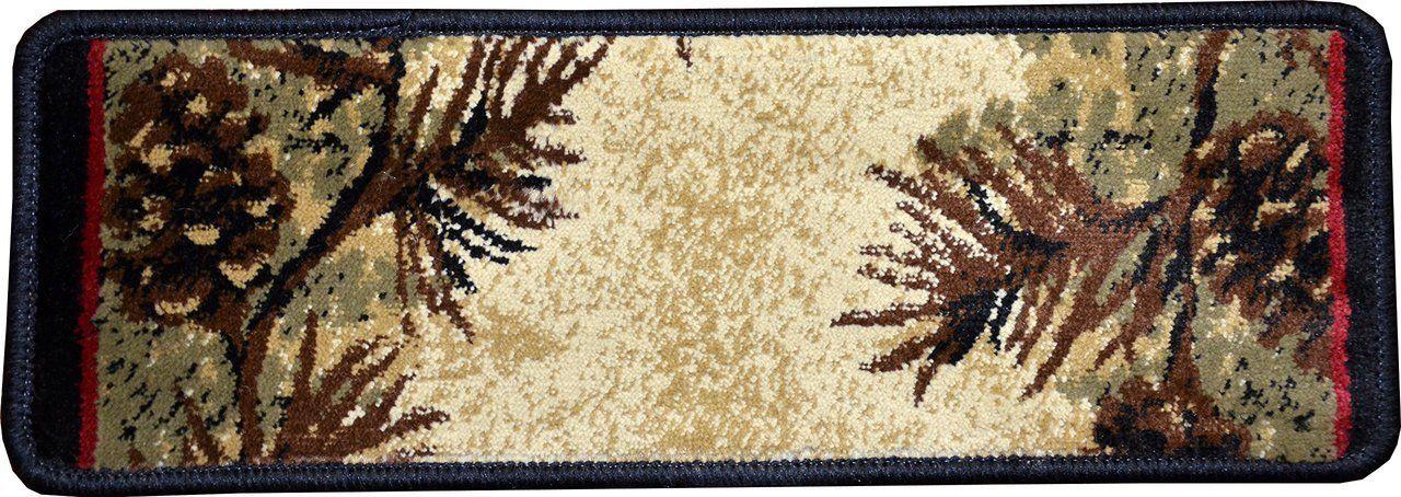 Best Dean Premium Carpet Stair Treads Mt Le Conte Pine Cone 400 x 300