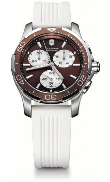 55124dbc08 Victorinox Swiss Army Alliance Sport Chronograph Quartz Womens Watch, Stainless  Steel, Brown Dial, 241503