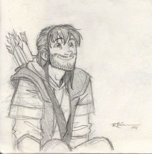 Awwww killiii~~~he\'s probably watching Tauriel slaughter orcs and ...