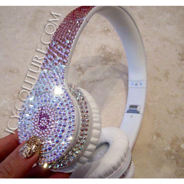 Beats wireless headphones light pink - green headphones light up