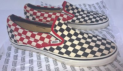 4d9f52544e334 Vans Vintage Custom Checkerboard Checkered Sneakers Shoes Loafers ...