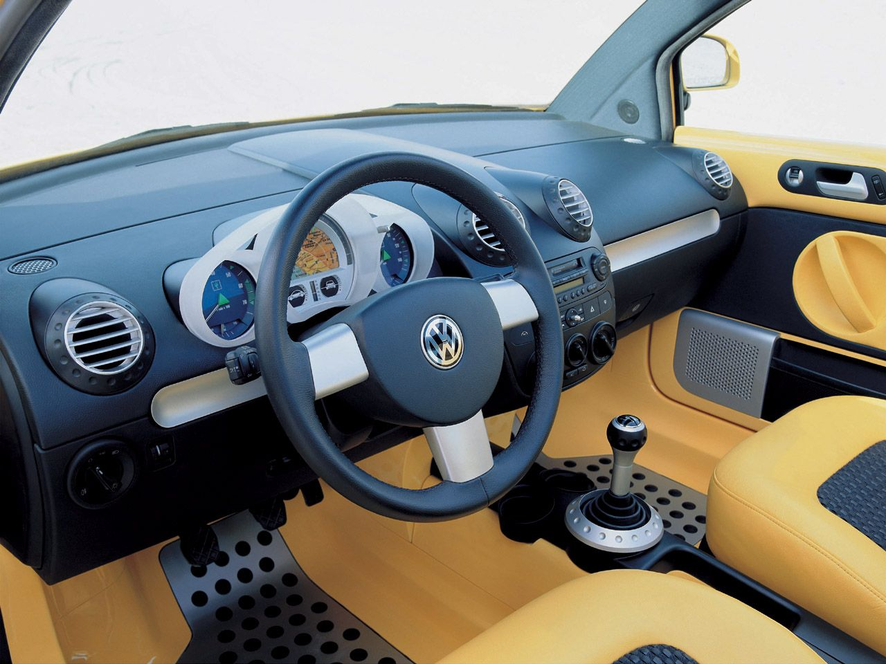 1998 Volkswagen S New Beetle Vw Yellow And Black And Grey Interior Volkswagen New Beetle Vw New Beetle Volkswagen Beetle