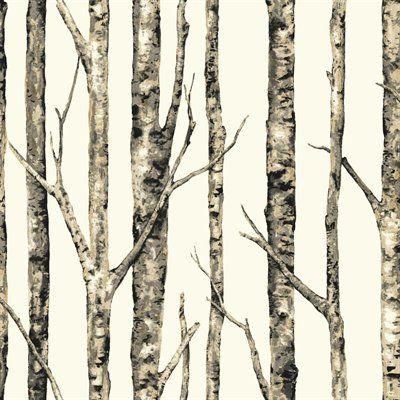 York Wallcoverings Neutral Peelable Paper Prepasted Classic Wallpaper Birches Wallpaper Birch Tree Wallpaper Birchwood Wallpaper