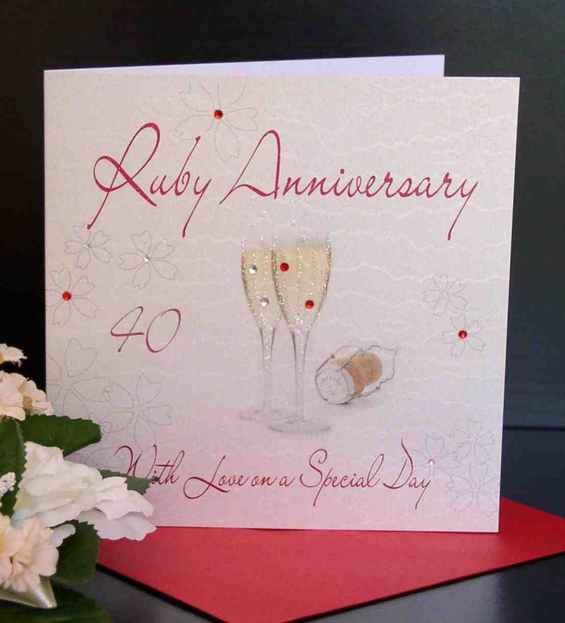 Wedding Anniversary Gift List: 40Th Wedding Anniversary Gifts For Parents