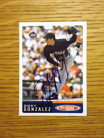 Dicky Gonzalez 2001 New York Mets 2002 Topps Total