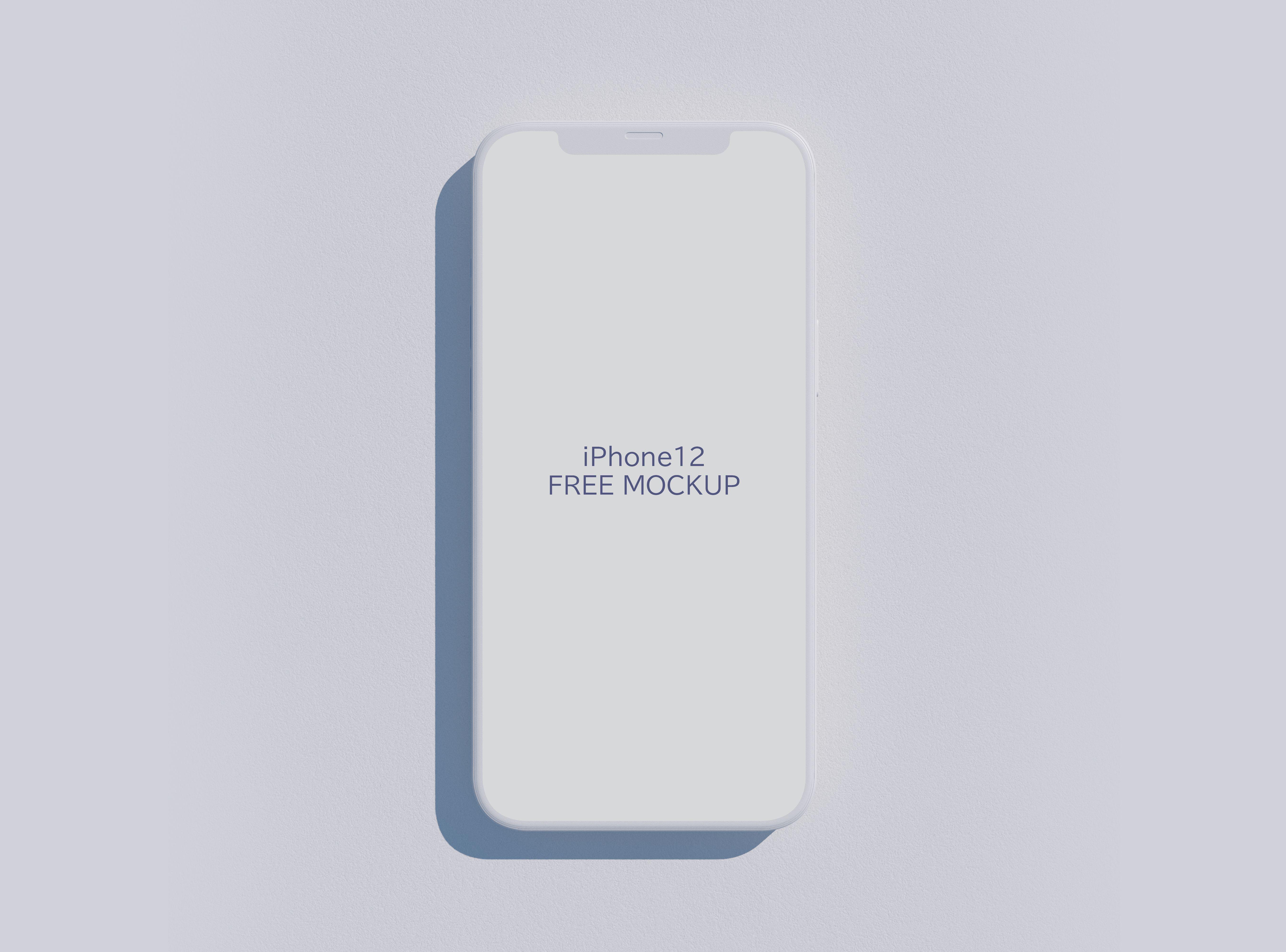 Download Free Iphone 12 Clay Mockup Psd Mockup Psd Free Mockup Free Iphone