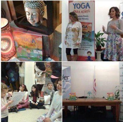 """Presentación del libro """"Yoga para niños"""", de Mariela Maleh y Daniela Méndez, Ediciones Urano. Patricia Iacovone Agente"""