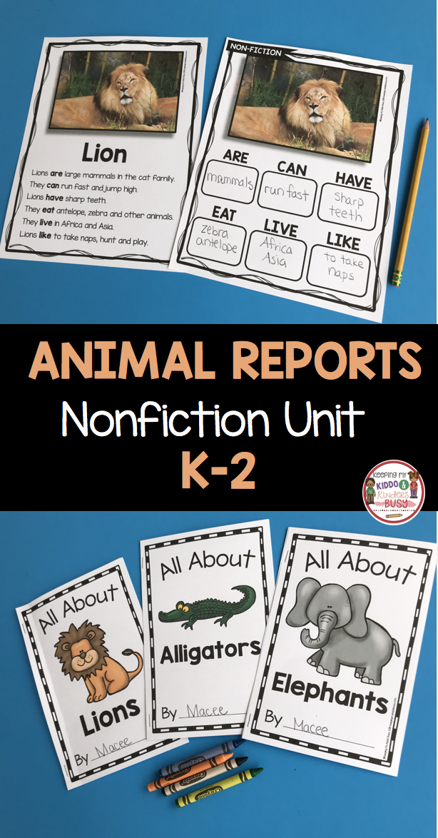 NONFICTION - All About Animals- Nonfiction Writing and Reading - Animal Reports - Zoo Unit - Kindergarten - First Grade - Second Grade - Informational Text - Non-Fiction Passages - FREEBIE  kindergarten  firstgrade  secondgrade  writing  nonfiction