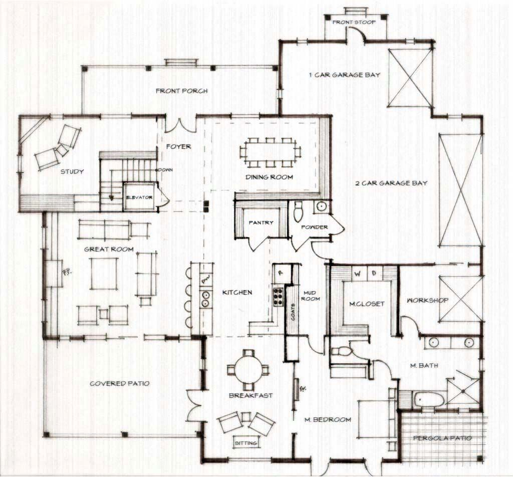 Do It Yourself Home Design: Homestead - First Floor. Residence: Form Follows Function.