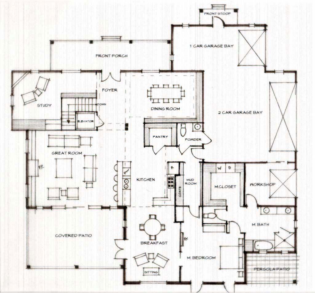 Homestead - First Floor. Residence: form follows function ...