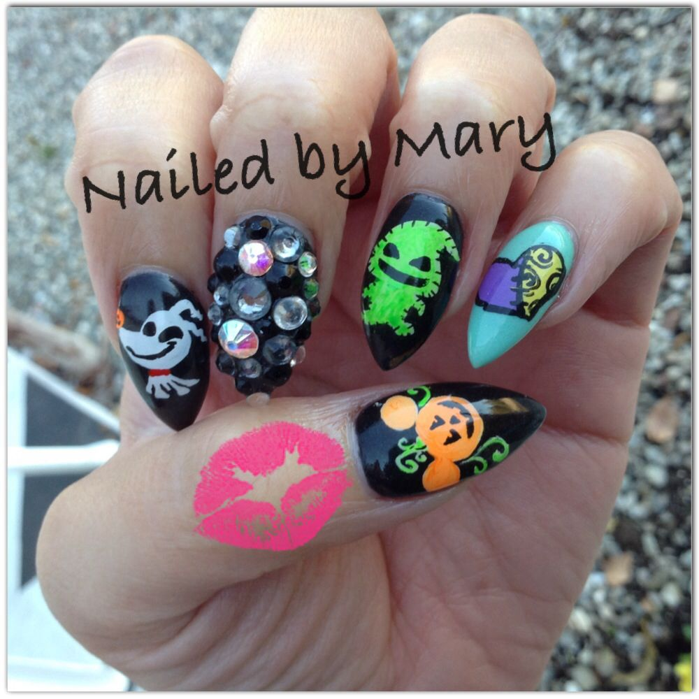 The nightmare before christmas halloween stiletto nails disney ...