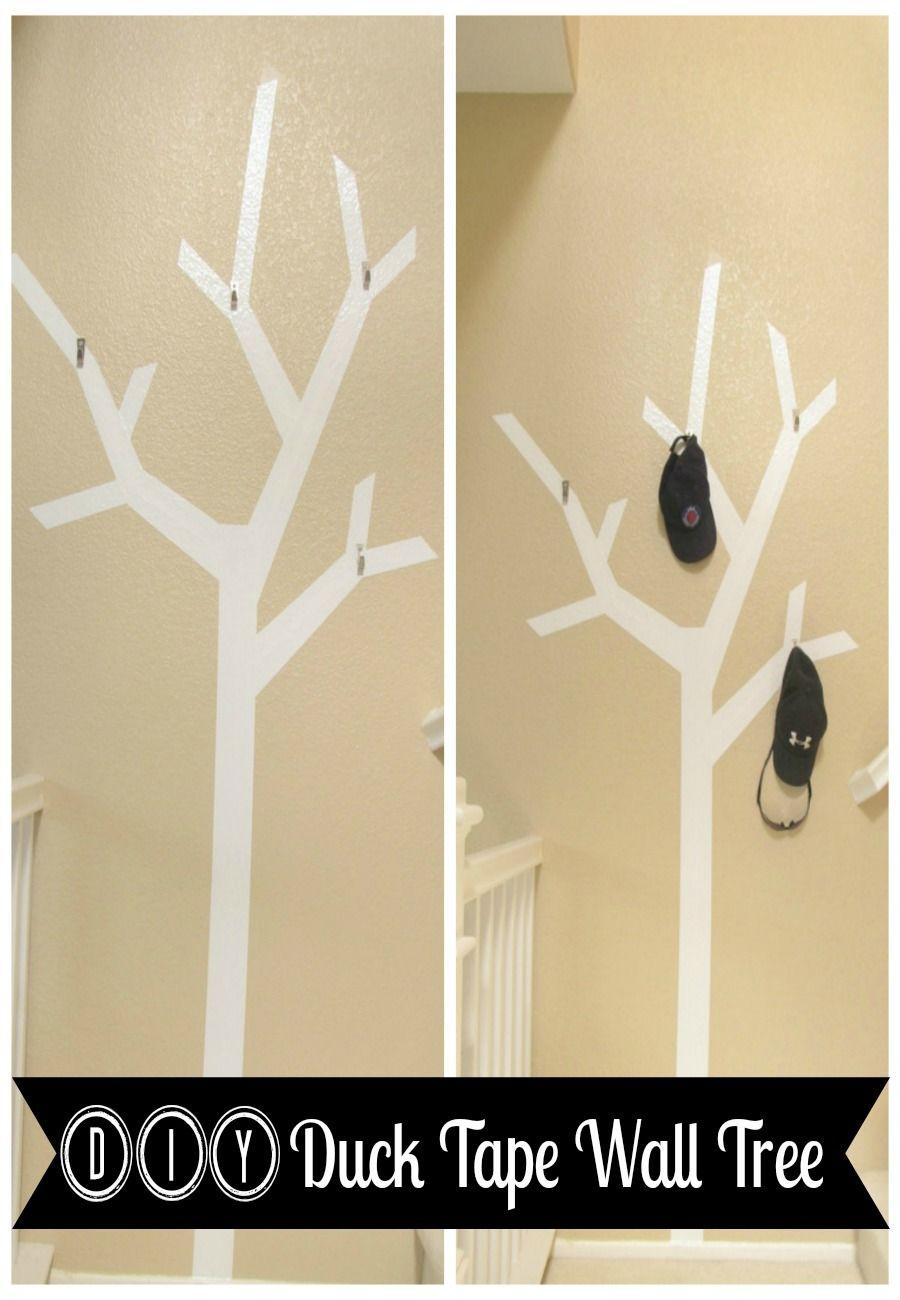 DIY Duck Tape Wall Tree | Creative Ideas | Pinterest | Tape wall ...