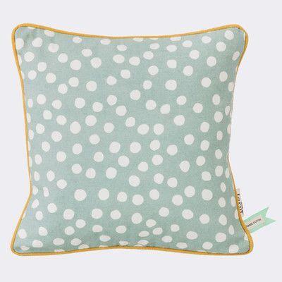 Scantrends Ferm Living Kids Dots Cotton Throw Pillow Color: Dusty Blue