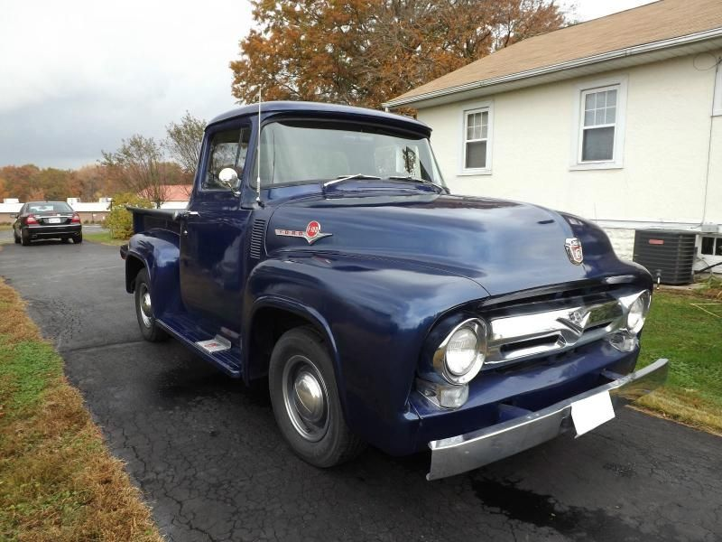 1956 Ford F 100 Daytona Blue 56 F100 Classic Pickup Trucks