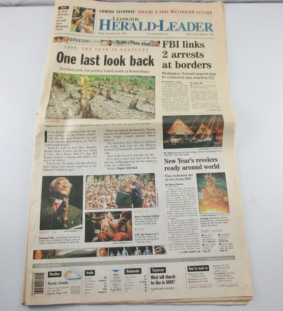 1999 Kentucky Lexington Herald Leader Newspaper Metro Final